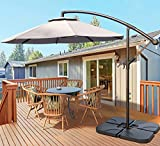 VOUA Offset Umbrella 10ft Cantilever Umbrella 8 Ribs Patio Hanging Umbrella Large Outdoor Umbrella...