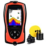 LUCKY Portable Fish Finder Handheld Kayak Fish Finders Wired Fish Depth Finder Sonar Sensor...