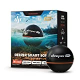 Deeper PRO+ Smart Sonar - GPS Portable Wireless Wi-Fi Fish Finder for Shore and Ice Fishing, Black,...
