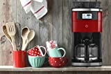 Smarter Smart iCoffee Brew Coffee Maker in Red with Built-in Grinder and Smarter App for Customized...