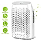 Honati Home Dehumidifier, 2000ml Ultra Quiet Small Portable Dehumidifiers with Auto Shut Off for...