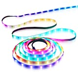 Aclorol WS2812B LED Strip Light 30 Pixels/M Individually Addressable Programmable Dream Color 16.4ft...