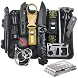 Gifts for Men Dad Husband Fathers Day, Survival Gear and Equipment 12 in 1, Fishing Hunting...