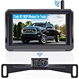 Rohent HD 1080P Digital Signal Wireless Backup Camera 5'' Monitor License Plate Hitch Rear/Front...
