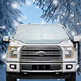 Zcaukya Windshield Snow Cover,Windshield Frost Protector Cover with 4 Layers...