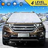 IVSUN Windshield Snow Cover with Reflective Ear Caps, 4 layers protector Ice Thermal car Windshield...
