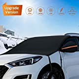 Hermard Windshield Snow Cover, Car Windshield Snow Cover with Rearview Mirror Covers & Hooks,...