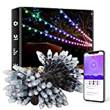 ELlight Outdoor String Lights 39ft 100LED, Dream Color Christmas Lights with APP, Waterproof Color...