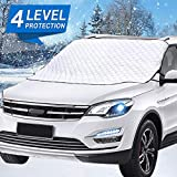 Mumu Sugar Car Windshield Snow Cover, Car Windshield Snow Ice Cover with 4 Layers Protector,...