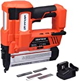 BHTOP Cordless Nailer & Stapler, Brad Nail Gun With 18Volt 2Ah Lithium-ion Rechargeable Battery,2 in...