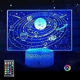 Menzee Solar System Night Light Universe Space Galaxy Night Light for Kids Bedroom Boys Girls...