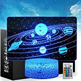 3D Space Toys Night Light, 16 Color Change Decor Lamp with Remote Control Kids Bedroom Decoration,...