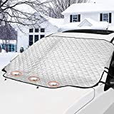 GAMURRY Car Windshield Snow Ice Cover, Windshield Covers with 4 Layers of Protection and Magnetic...