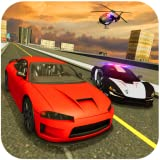 Police Car Chase Cops vs Robbers : 3d Games race Ops for kids fire bike bus city block dog free ems...