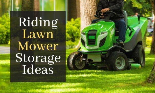 Riding Lawn Mower Storage Ideas. 5 Storage Ideas To Keep Your Lawn Mower Safe